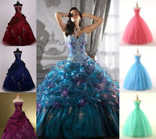 Stock 8 Styles Quinceanera Dress Prom Ball Formal Wedding Gown SZ6-8-10-12-14-16