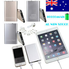 Portable Ultrathin 10000mAh 2USB External Battery Power Bank Charger For Phone