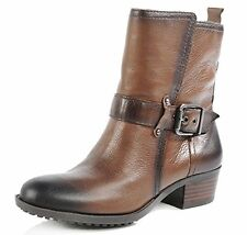 Arturo Chiang Women's Fedra Coffee Leather Ankle Boot