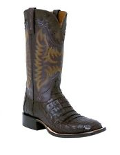 Lucchese M4549 Mens Barrel Brown Caiman Crocodile Leather Western Cowboy Boots