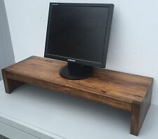 TV Riser Stand Modern Rustic Albus Wood with Medium Finish