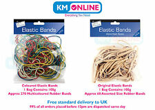 Strong Elastic Rubber Bands Assorted Colour/Size 100g Office/Stationery/Craft