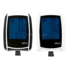 Wireless Cycle Bicycle Bike LCD Computer Speedometer Odometer with Backlight