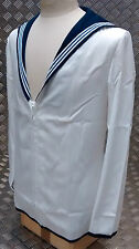 Genuine British Royal Navy Class 2 Sailors Middy Jumper White Grade 2 Stained