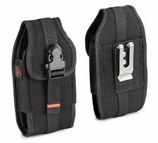 REIKO Vertical Heavy Duty Rugged Canvas Belt Clip Loops Case for Kyocera Phones