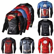 3D Comics Superhero Marvel Compression Long Sleeve T-Shirts Sport Cycling Jersey