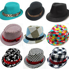 Baby Girl/Boy Toddler Kid Cap Fedora Hat Jazz Cap Photography Cotton Trilby Top