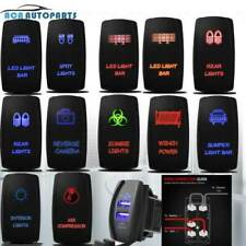 Laser Etched Rocker Switch ARB Narva Carling Style Dual LED 4WD 12V 24V ON OFF