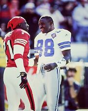 Michael Irvin and Deion Sanders unsigned 8x10 Color photo.