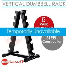 Vertical Dumbbell Rack 6 Pair Storage Hex Weight Stand Home Gym Fitness Everfit