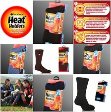 12 Pairs Mens GENUINE Thermal Winter Warm Heat Holders Socks size 6-11 uk