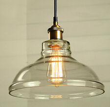 Modern Vintage Pendant Ceiling Light Glass Lampshade Fitting Brass Copper Loft