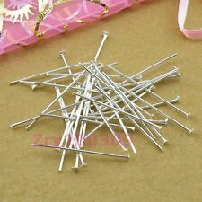 Silver Plated Head Pins Connectors 20mm,30mm,40mm,DIY Findings R0013