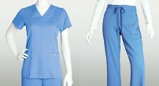 Grey's Anatomy 41101 & 4232 Scrub Set Top & Pants Ceil,Black Indigo XS-2XL NEW