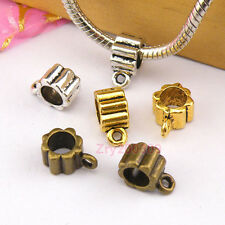 25Pc Tibetan Silver,Gold,Bronze Charm Pendant Bail Connector Fit Bracelet M1245