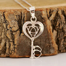 925 Sterling Silver Key to Your Heart Infinity Pendant Chain Necklace w Gift Box