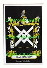 HARRINGTON Family Coat of Arms Crest - Choice of Mount or Framed