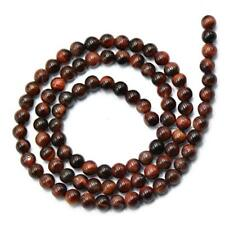Wholesale Lot Natural Gemstone Red Tiger Eye Round Spacer Loose Beads 4/6/8mm