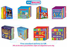 Mini Library Set of Board Book Kids Animals,Nursery Rhymes,Bedtime Story,ABC,123