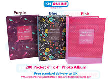 6x4 Designer Photo Album 200 Pocket Slip In Photo Album Personalised Window 1122