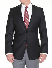 Calvin Klein Extreme Slim Fit Solid Black Two Button Wool Blazer Sportcoat