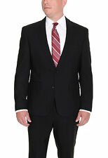 Kenneth Cole NY Slim Fit Black Two Button Wool Suit With Pickstitching