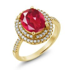 4.00 Ct Oval Last Dance Pink Mystic Quartz 18K Yellow Gold Plated Silver Ring