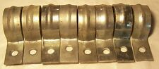 """Lot of (9)  1 1/4"""" One HOLE conduit STRAP Electrical strapping for EMT 1.25"""""""