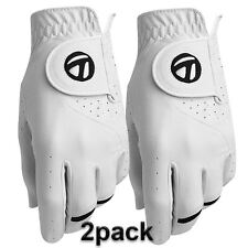TaylorMade 2016 All-Weather Leather Palm Mens Performance Golf Gloves Pack of 2