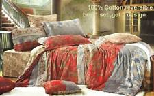 2in1 Reversible 100% COTTON Quilt cover set / Queen / King Taviano Duvet Cover