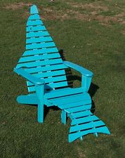 Poly Dolphin Adirondack Chair with Ottoman  - Commercial - Amish Made