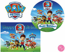 Paw Patrol Personalised Edible Image on REAL Icing Birthday Cake Topper