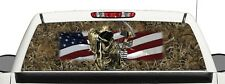 Truck Bow Reaper Grassland Camo Flag Window Graphic Decal Perforated Vinyl Wrap