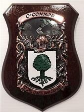 BRACKEN to BRIDGES Family Name Crest on HANDPAINTED PLAQUE - Coat of Arms
