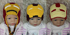 New Handmade Iron Man Hat Super Hero Hat Knit Hat Crochet Hat Baby Hat Child Hat
