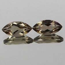 8x4mm Lot 2,10pcs Marquise Cut Natural Earth-Mined Smoky Brown QUARTZ