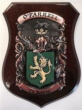 Mc Callion to Mc Cormack Family Handpainted Coat of Arms Crest PLAQUE Shield