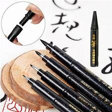 Chinese Japanese Calligraphy Writing Painting Re-useable Brush Pen + Ink Refills