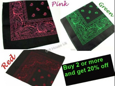 Paisley Bandana Bandanna Headwear/Hair Bands Scarf Neck Wrist Wrap Headtie B3