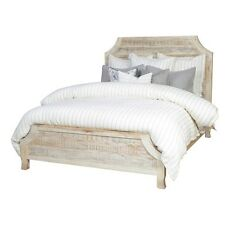 Rustic Panel Bed Traditional Unique Antique Wood Bedroom Furniture Queen King