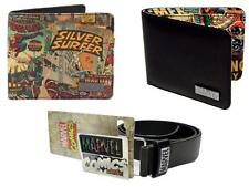 Marvel Comics Mens Comic Strip Style & Black Wallet Mens logo Belt Fit 31 - 37""
