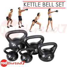 Kettlebell Set 5 Fitness Exercise Kit Workout Home Gym Equipment Kettle Bell Abs