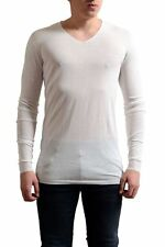 "Rick Owens ""Faun S/S 15"" Men's White V-Neck Light Sweater Size S M L"