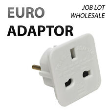 Wholesale UK to EU Euro Europe European Travel Adapter Plug Adaptor
