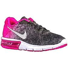 Nike Air Max Sequent - Women's Running Shoes (BK/PK Foil/Cool GY/Metallic Silve