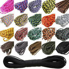 Parachute Cord Paracord 550 7 Core Strand 100FT Nylon Survival Outdoor Camping
