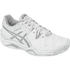Asics Gel-Resolution 6 Clay Court Womens Tennis Shoe  White-Silver