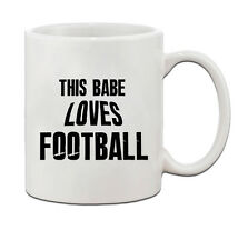 This Babe Loves Football Ceramic Coffee Tea Mug Cup