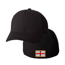 ENGLAND FLAG Embroidery Embroidered Black Cotton Flexfit Hat Cap