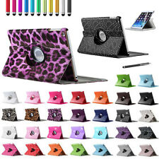 Leather 360 Degree Rotating Stand Smart Case Cover For iPad 5 iPad Air + Stylus